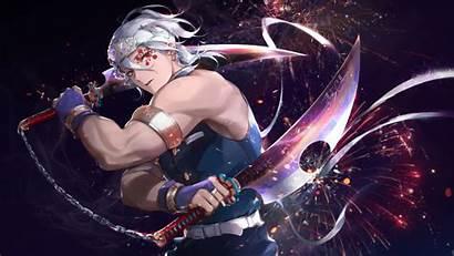 Slayer Demon Uzui Tengen Weapons Anime Background