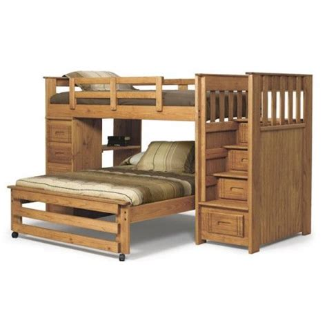 woodcrest bunk beds woodcrest woody creek stairway bunk with 4