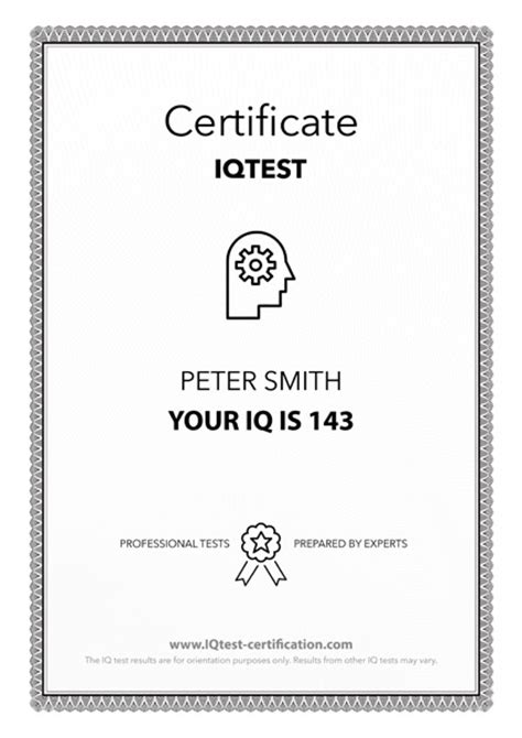 Iq Certificate Template by Number Names Worksheets 187 Printable Iq Tests Free
