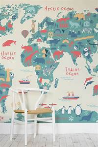 Colored Wallpapers For Children's Room With Fun Motifs ...
