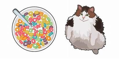 Cat Cursor Loops Cats Fruit Custom Funny