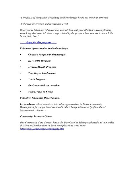 Volunteer Abroad Experience On Resume by Volunteer Hour Letter Template Letter Template 2017