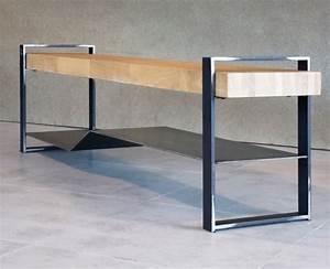 Meuble Tv Pied Metal : meuble tv m tal plateau bois meuble industriel ~ Teatrodelosmanantiales.com Idées de Décoration