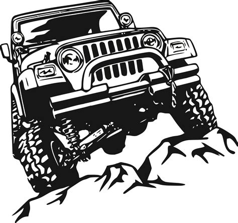 jeep art jeep decal garage home decor wall hanging graphic design