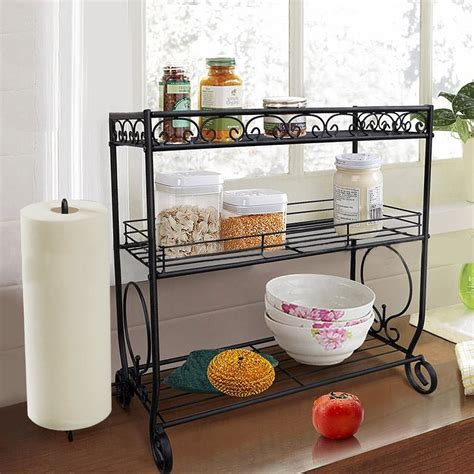 Spice Rack Stand by 3 Tier Spice Rack Kitchen Storage Stand Towel Holder Jars