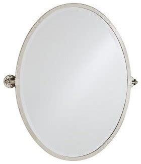 Pivot Bathroom Mirror Chrome by Kensington Pivot Mirror Oval Chrome Finish Traditional