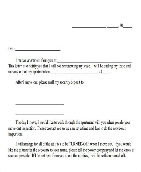 End Of Tenancy Letter Template From Landlord by Landlord Letter Templates 5 Free Sle Exle Format