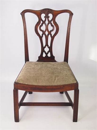 Chippendale Chair Antique Mahogany Georgian Stamped Furniture