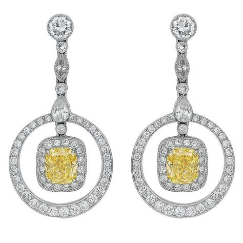 Canary Diamond Platinum Drop Earrings For Sale At 1stdibs. Sweater Necklace. Husband And Wife Bands. Gold And Diamond Engagement Rings. 5 Carat Wedding Rings. Swarovski Diamond. Diamond Eternity Band Thin. Colored Pendant. Beach Diamond