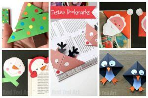 christmas bookmarks red ted arts blog