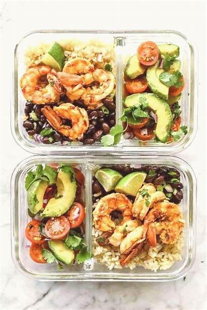 Healthy Meal Shrimp Prep Bowl Protein Fats