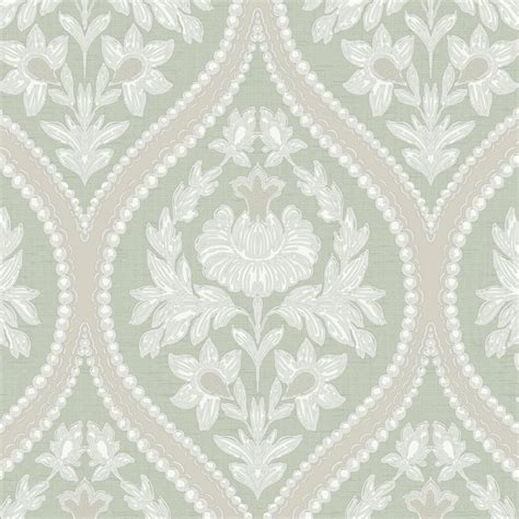 Designer Interiors Pienza Damask Wallpaper Green (35482