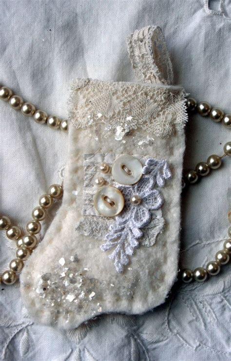 shabby fabrics ornament shabby stocking fabric handmade christmas ornament patterns christmas ornament and fabrics