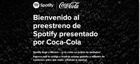 foto de Spotify llega a México con Coca Cola (Codigo de Invitacion)
