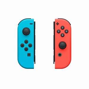 Neon Red Joy Con L and Neon Blue Joy Con R