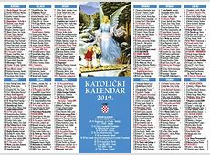 Jednolistni katolički kalendar za 2019 godinu