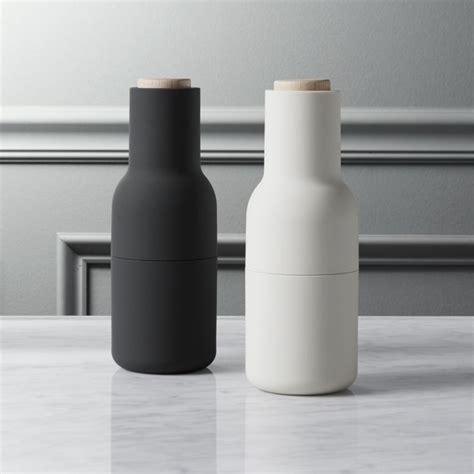 2 piece neutral salt and pepper grinder set   CB2
