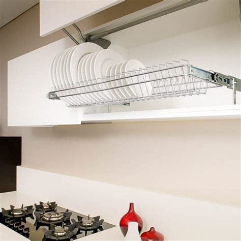 stainless steel pull  plate storage  kitchen cabinets tansel