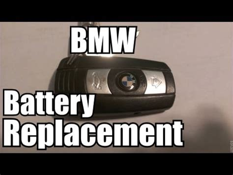 bmw replacing  battery  comfort access key youtube