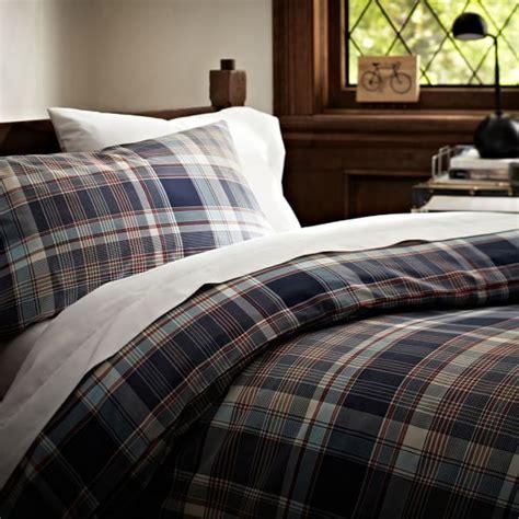 plaid duvet covers cascade plaid duvet cover pillowcases pbteen