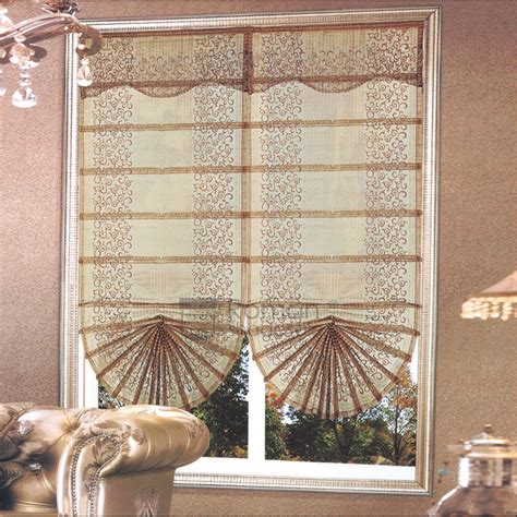 fan shaped window shades vintage embroidery fan shaped roman window shades with valance