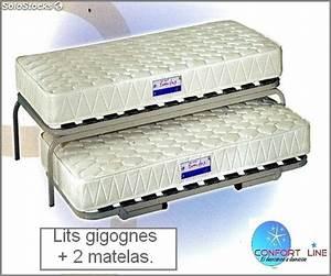 Lit Gigogne 2 Places : lit gigogne transformable en lit 2 places ~ Preciouscoupons.com Idées de Décoration