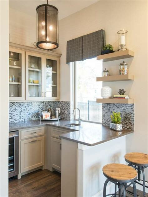 height of kitchen cabinets small kitchen peninsula houzz 4172