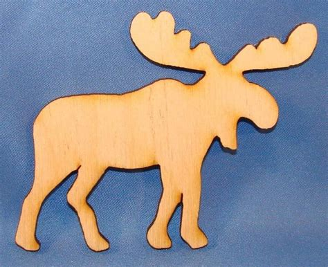 moose wood cutout    package   wood cutouts