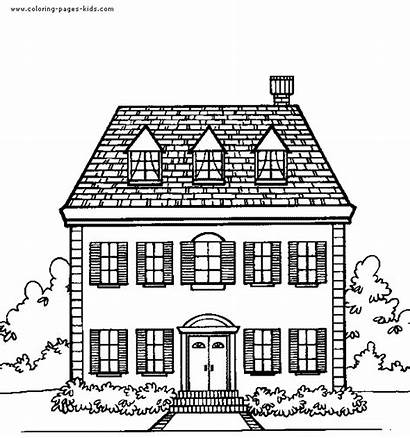Coloring Pages Houses Printable Jobs Clipart Homes