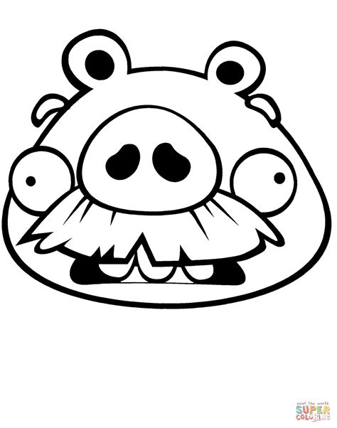 Kleurplaat Angry Birds Pig by Foreman Pig Coloring Page Free Printable Coloring Pages