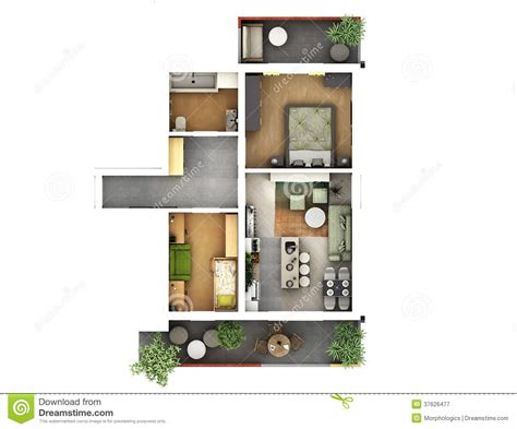 small green home plans 3d floor plan stock illustration image of decoration