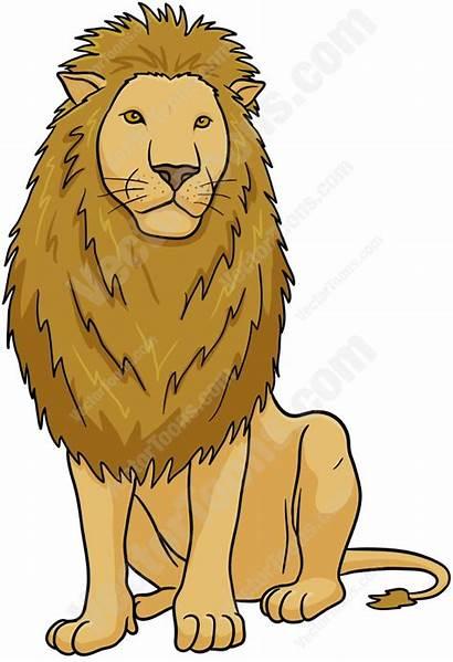 Lion Male Clipart Sitting Cartoon Drawing Animal