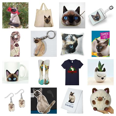 Gifts For People Who Love Siamese Cats!  Meow As Fluff