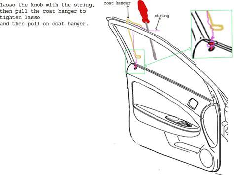 how to unlock a car door just locked my in my 1970 porsche 911 top and