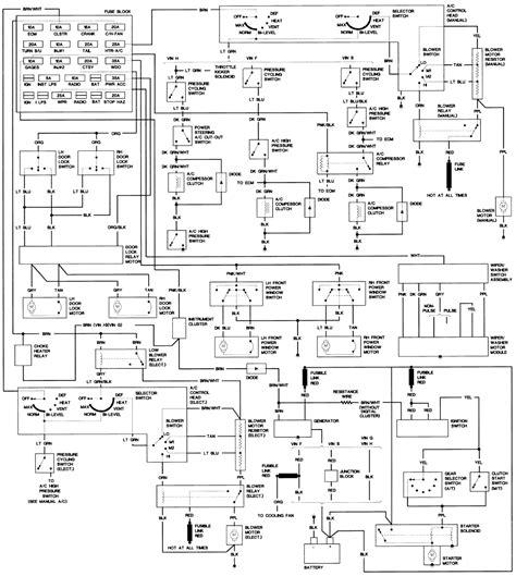 86 Ford Truck Radio Wiring Harnes Diagram by 1986 Chevy Truck Wiring Diagram For Lights Wiring Library