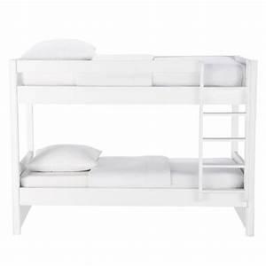 Ikea Lit 90x190 : lit superpos 90x190 blanc newport maisons du monde ~ Teatrodelosmanantiales.com Idées de Décoration
