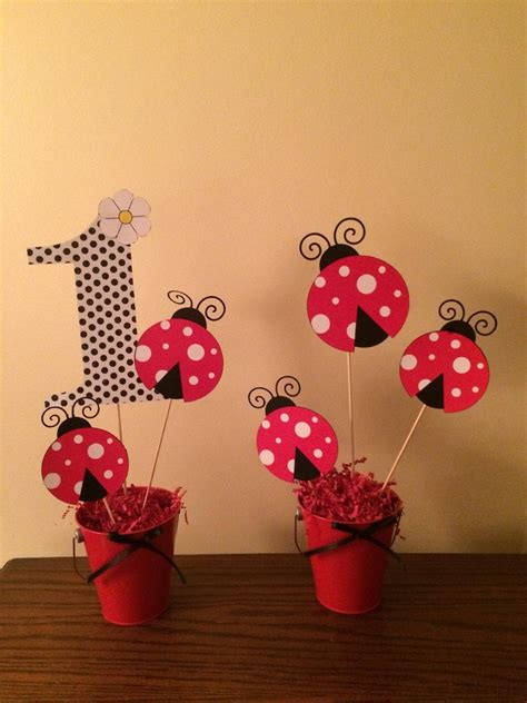 Lady Bug Centerpieces By Bellissimaparty On Etsy Baptism