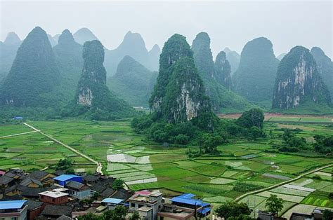 beautiful karst rural scenery  spring  carl ning