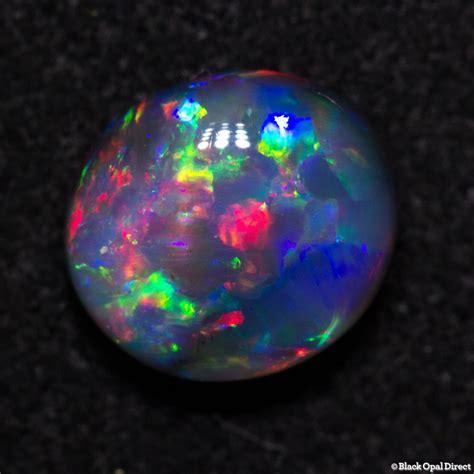 0.78 ct gem black opal 7x6x3mm - Black Opal Direct