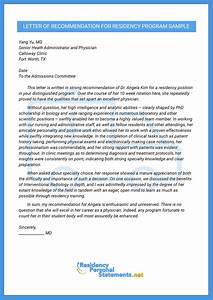 Fellowship Recommendation Letter Professional Letter Of Recommendation For Residency