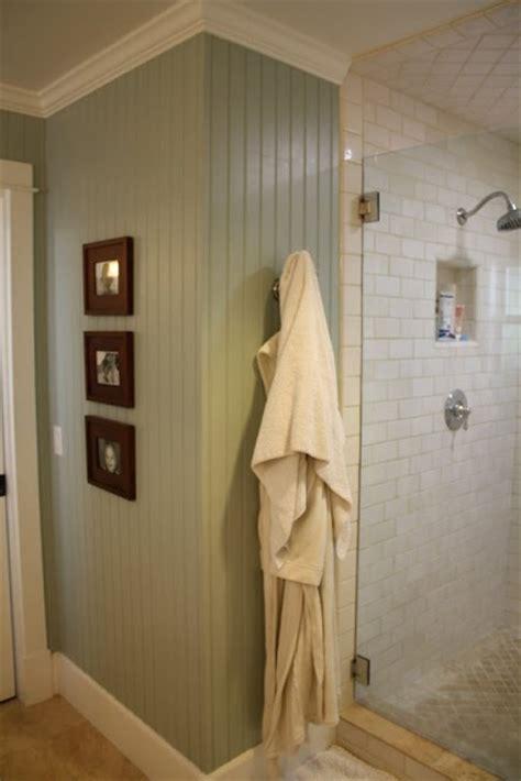 full height beadboard walls  bathroom  love paint