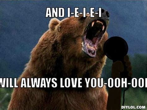 And I Will Always Love You Meme - nfc intimidation factor found on pinterest chibears