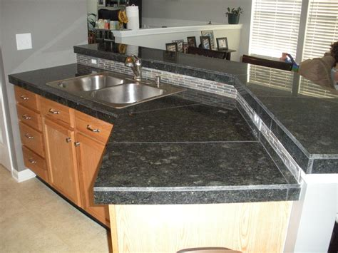 Tile Countertop by Tile Countertops After Install Granite Tile Countertop
