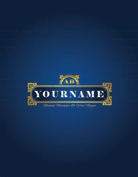 exclusive design royal blue alphabet logo compatible