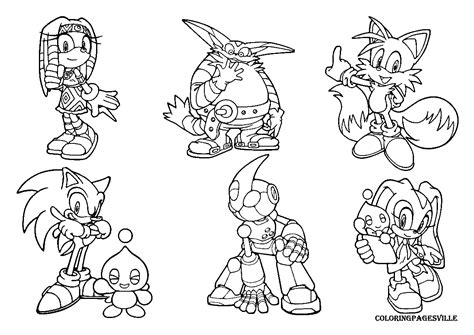 Sonic The Hedgehog Coloring Pages Tails