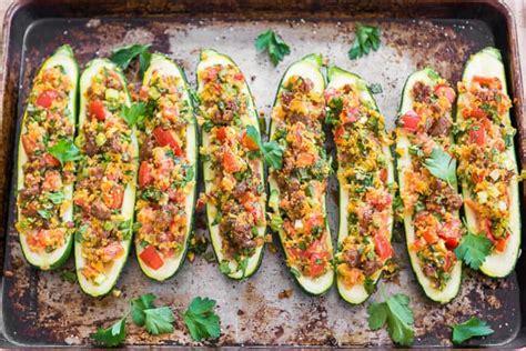 Freezing Stuffed Zucchini Boats by Sausage Stuffed Zucchini Stuffed Zucchini Boats Recipe