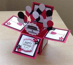 Handmade Card in a box/ unique birthday by induscraftcreations