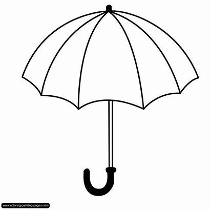 Coloring Umbrella Pages Various Bw Motives Window