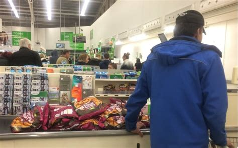 dominos pizza worker spotted buying stock  asda