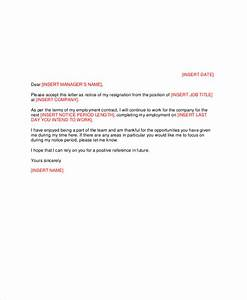 Free, 6, Sample, Manager, Resignation, Letter, Templates, In, Pdf